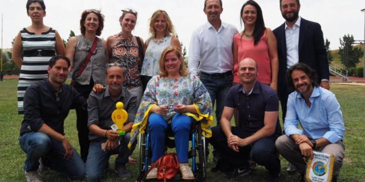 Grande Festa dello sport a Enna, i big del mondo atletico e della musica siciliana e i deputati M5S all'Ars consegnano 60 borse di studio agli atleti disabili