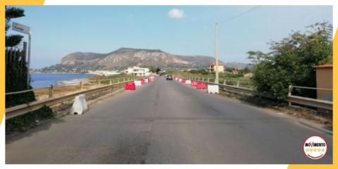 Sotto osservazione il ponte tra Aspra e Ficarazzi sulla provinciale 74.